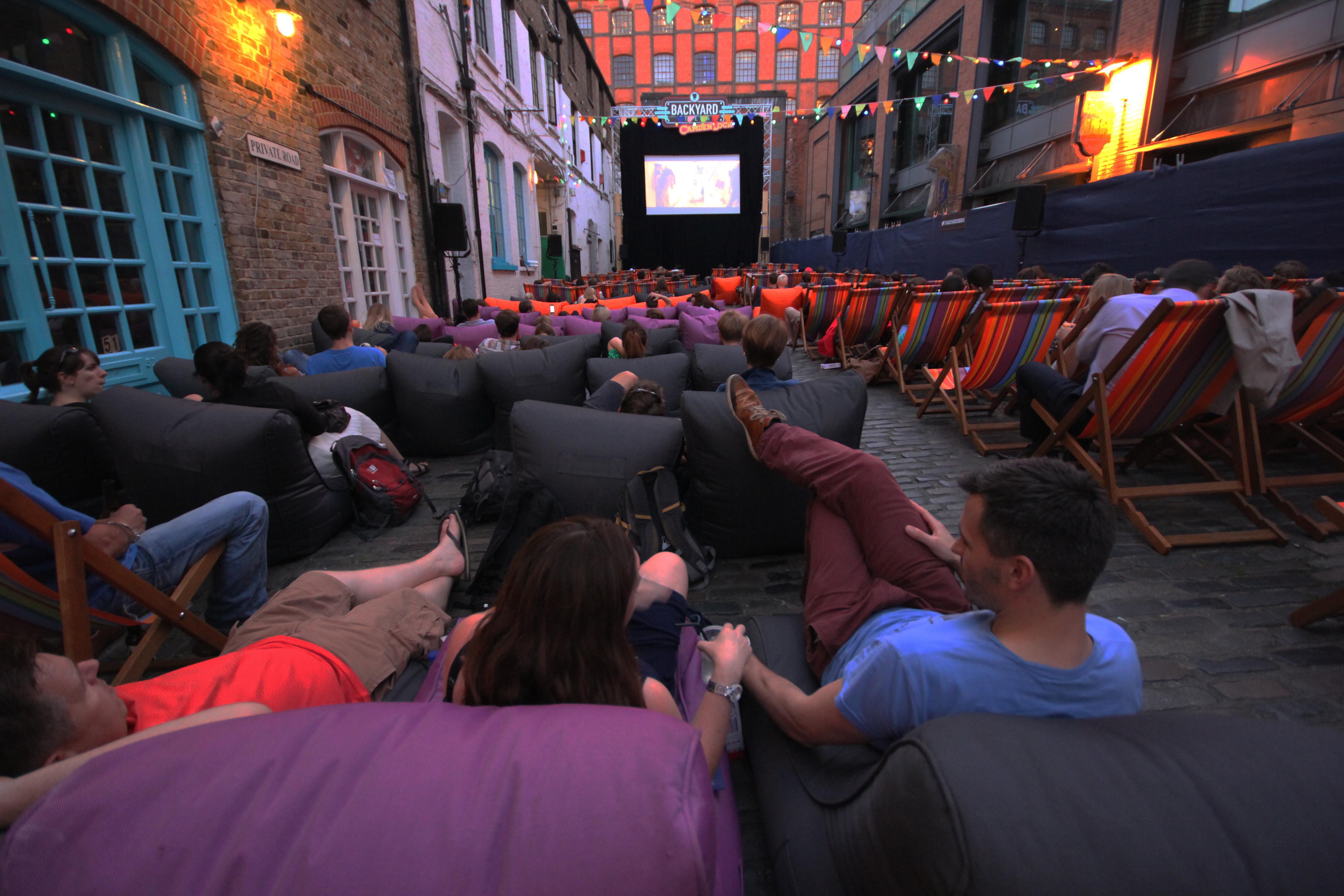 Backyard Cinema in Camden Lock